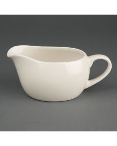 This is an image of a Olympia Ivory Sauce Boat - 12oz (Box 6)