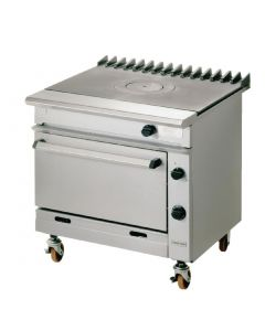 This is an image of a Falcon Chieftain Single Bullseye Propane Gas Oven Range G1006BX-P
