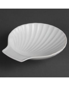 "This is an image of a Olympia Whiteware Scallop Shell - 130mm 5"" (Box 6)"