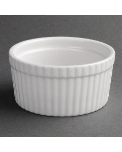 "This is an image of a Olympia Whiteware Souffle Dish - 105mm 4"" (Box 6)"