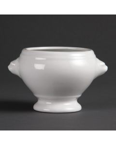 "This is an image of a Olympia Whiteware Lion Head Soup Bowl - 105cm 4"" (Box 6)"