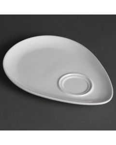 "This is an image of a Olympia Snack Plate White - 185x240mm 7 14x9 12"" (Box 12)"