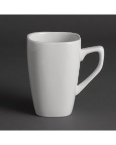 This is an image of a Olympia Square Mug White - 284ml 10oz (Box 12)