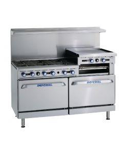 Imperial 6 Burner & Griddle Propane Gas Oven Range IR6RG24-P