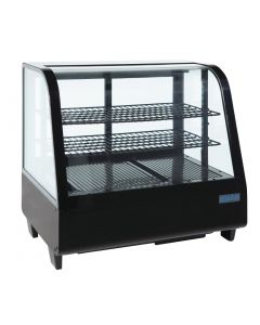 Polar Chilled Food Display 100Ltr Black