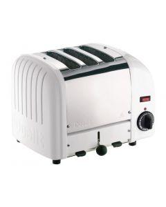 Dualit 3 Slice Vario Toaster White 30087