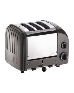 Dualit 2 + 1 Combi Vario 3 Slice Toaster Metallic Charcoal 31209