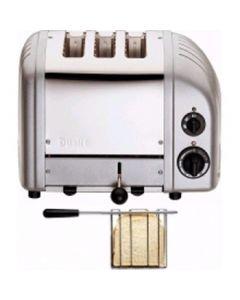 Dualit 2 + 1 Combi Vario 3 Slice Toaster Metallic Silver 31210
