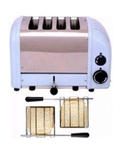 Dualit 2 x 2 Combi Vario 4 Slice Toaster Glacier Blue 42227