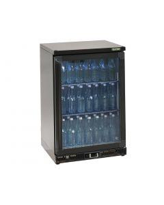 Gamko Bottle Cooler - Single Hinged Door 150 Ltr Black