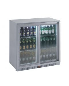 Lec Back Bar Bottle Cooler Sliding Doors 180 Bottles