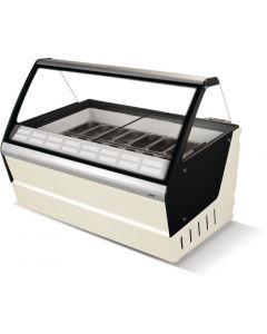 Crystal Optimus 16 Pan Ice Cream Display Counter