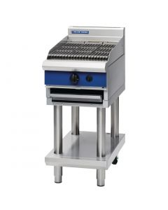 Blue Seal 450mm Chargrill on Leg Stand Natural Gas (Direct)