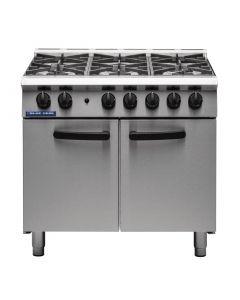 Blue Seal 6 Burner Oven Range Medium Duty Natural Gas G750 6