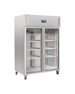 Polar Upright Double Glass Door Gastro Refrigerator 1200Ltr