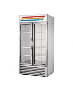 True 2 Glass Door 991L Upright Display Fridge Aluminium GDM-35-HC-LD-Alu