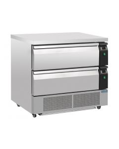 Polar Double Drawer Counter Fridge/Freezer 2xGN