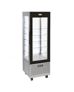 Roller Grill Display Fridge with Fixed Shelves Stainless Steel