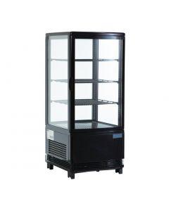 Polar Chilled Display Cabinet Black 68 Ltr
