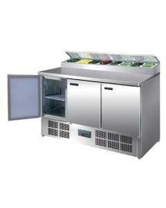 Polar Refrigerated Pizza and Salad Prep Counter 390Ltr