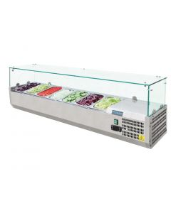Polar Refrigerated Countertop Servery Prep Unit 7x 14GN