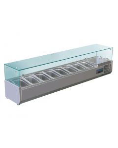 Polar Refrigerated Countertop Servery Prep Unit 8x 14GN