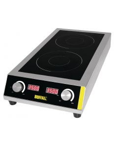 Buffalo Heavy Duty Double Induction Hob - 7kW
