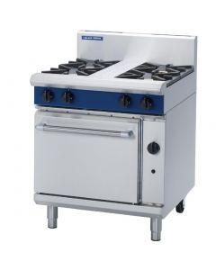 Blue Seal Evolution 4 Burner Static Oven Natural Gas 750mm G505D/N