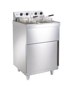 Parry Double Pedestal Fryer 2 x 9Ltr 2 x 6kW (Direct)