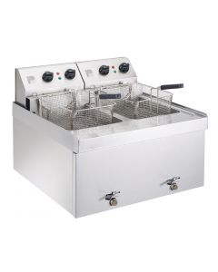 Parry Double Table Top Fryer 2 x 9Ltr 2 x 3kW (Direct)