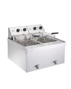 Parry Double Table Top Fryer 2 x 9Ltr 2 x 6kW (Direct)