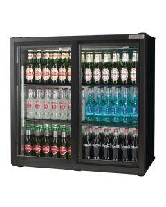 Autonumis Popular Double Sliding Door Maxi Back Bar Cooler Black A21094
