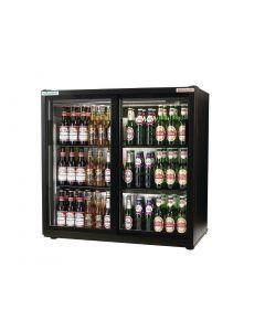 Autonumis EcoChill Double Sliding Door Maxi Back Bar Cooler, Black A210101