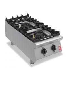 Falcon F900 Two Burner Countertop Boiling Hob Natural Gas G9042