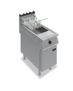 Falcon F900 Twin Basket Fryer with Filtration on Feet Natural Gas (Direct)