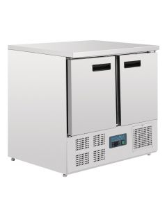 Polar 2 Door Compact Counter Fridge 240Ltr
